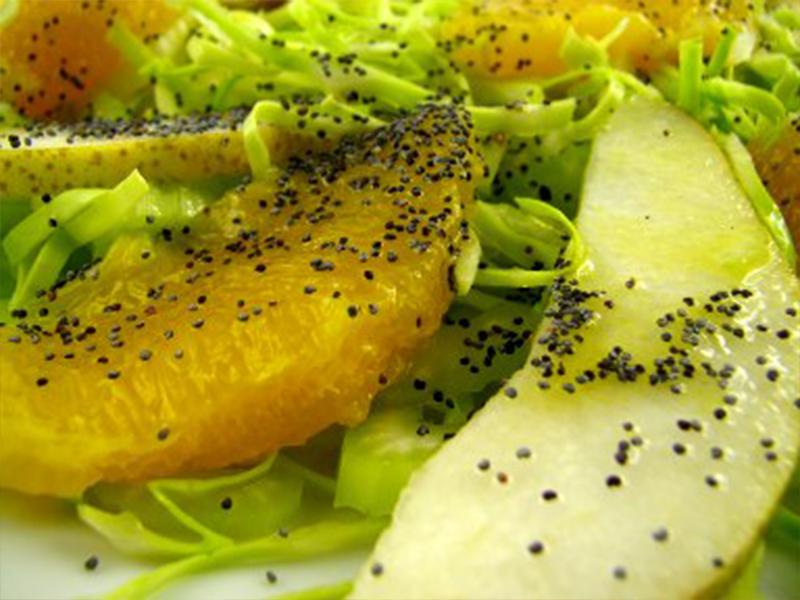 Salada de laranja couve e pera